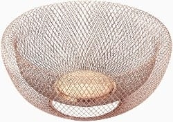 Double Wall Mesh Copper Decorative and Fruit Bowl (1)