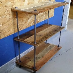 Gorgeous Custom Made Pallet Wood Bookshelf (1)