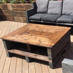 Rustic Farmhouse Pallet Wood Coffee Table (1)