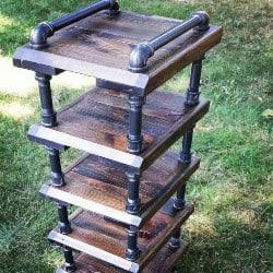 Rustic space saving high rise shoe rack (1)