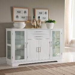 Sideboard Buffet Storage Cabinet with Glass Door,