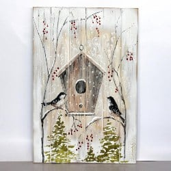 Wood Pallet Christmas Wall Decor (1)