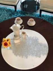 dining room furniture - 24 Round Resin Serving Tray with Turntable