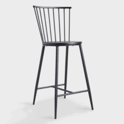 Black Steel Neal Counter Stool