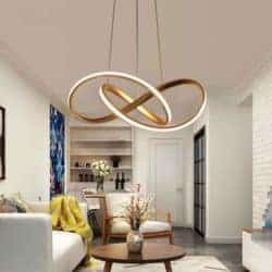 dining room furniture - Gold Modern Acrylic Pendant Chandeliers Lighting LED Ceiling Light Fixture for Dining Room