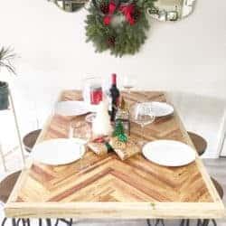 dining room furniture - Herringbone Dining Table
