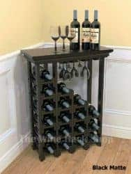 Waterfall Wine Rack With Stemware Holders
