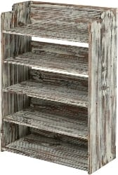pallet furniture ideas - 5 Tier Rustic Torched Wood Entryway Shoe Rack
