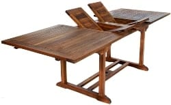 All Things Cedar TE90 Teak Extension Patio Table