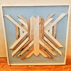 pallet furniture ideas - Custom Geometric Wall Art