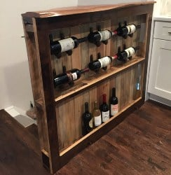 Custom Upcycled Pallet Wine Rack