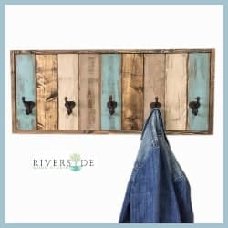 Rustic Farmhouse Wood Coat Rack