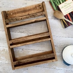 pallet furniture ideas - Rustic Spice Rack