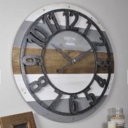 pallet furniture ideas - Shabby Chic Round 27_ Pallet Wall Clock
