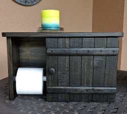 pallet furniture ideas - Toilet Paper Holder & Cabinet with Shelf