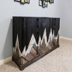 Pallet patio furniture-rustic dresser (1)