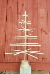 3 and 4 FT Beaded Wood Christmas Tree