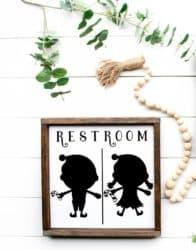 christmas decoration - Christmas Decor Restroom Sign