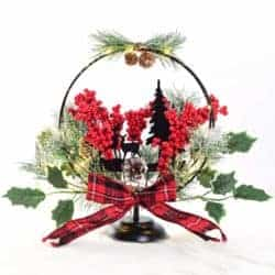 Christmas Table Decoration with Red Berries
