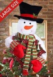 christmas decoration - Christmas Tree Topper Snowman Hugger
