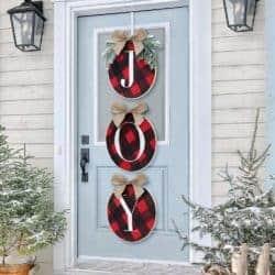 Christmas Wreath - Joy Sign