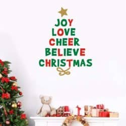 christmas decoration - Creative Christmas Quotes Tree Wall Decal