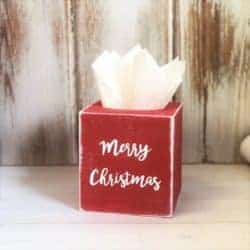 christmas decoration - Farmhouse Tissue Box Cover