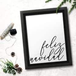 Feliz Navidad Wall Art
