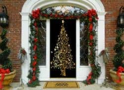 christmas decoration - Golden Christmas Tree Door Decoration