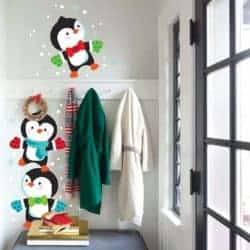 Holiday Fun Stacking Penguins Large Peel and Stick Wall Decals & Decor