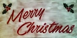 christmas decoration - Lighted Merry Christmas Sign LED Backlit