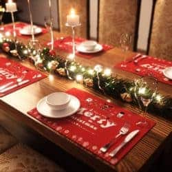 Merry Christmas Placemats Set of 6
