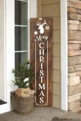 christmas decoration - Merry Christmas Porch Sign