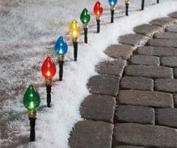 Multi-Color Light Bulb Pathway Markers