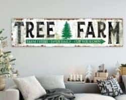 Rustic Tree Farm Christmas Sign