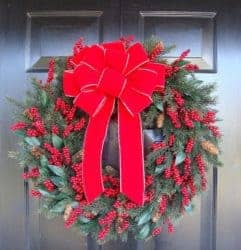 christmas decoration - Weatherproof Outdoor Christmas Bow