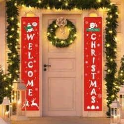 Welcome Christmas Door Banner