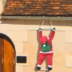 outdoor christmas decoration - Climbing Hanging Santa Claus