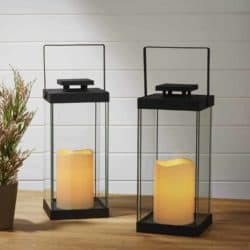 outdoor christmas decoration - Flameless Candle Lanterns