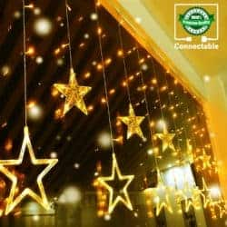 outdoor christmas decoration - LED Stars Curtain Lights