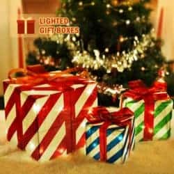 outdoor christmas decoration - Lighted Gift Boxes