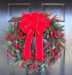 outdoor christmas decoration - Outdoor Christmas Bow for Wreath