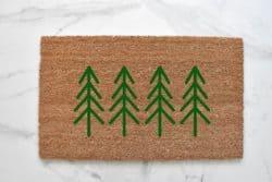 outdoor christmas decoration - Pine Tree Doormat