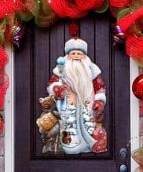 outdoor christmas decoration - Santa Door Decoration