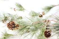 outdoor christmas decoration - Smokey Pine Garland