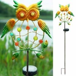 Solar Powered Owl Garden Lights for Pathway
