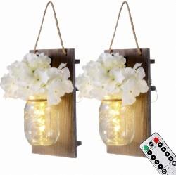 Mason Jar Sconces with LED (1)