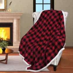farmhouse christmas decor - Buffalo Throw Blanket