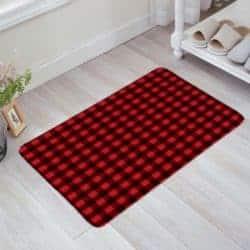 Checkered Bathroom Doormat
