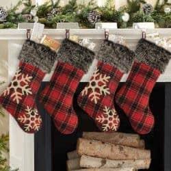 farmhouse christmas decor - Christmas Stockings